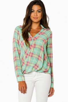 Best I Ever Plaid Blouse