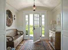 bench, rug, floors, ceiling. How I would love this!