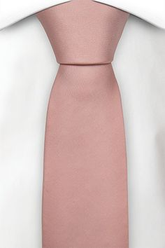 Slim tie - Solid twill in light coral pink - Notch BETUTTAD CORAL
