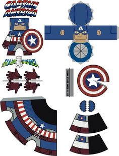 Image detail for -captain america: the first paper avenger - make papercraft figures . 3d Paper Crafts, Diy Paper, Diy And Crafts, Crafts For Kids, Cardboard Toys, Paper Toys, Imprimibles Toy Story Gratis, Superhero Party, Paper Models