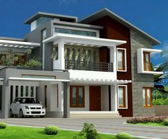 modern asian house design exterior - Google Search