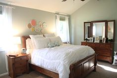 "Bedroom Makeover with ""Comfort Gray"" by Sherwin Williams"