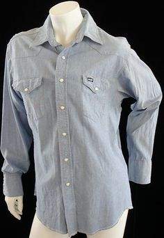 Long Sleeved Vintage Wrangler Western Shirt