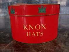 Antique Vintage Knox Hats Salesman Sample Box New York  943d23ab73ea