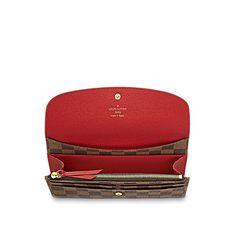 LOUIS VUITTON - Emilie Wallet (LG) DAMIER EBENE Small Leather Goods