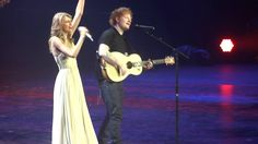 "Taylor Swift / Ed Sheeran ""I See Fire"" - Berlin, O2 World they r perfect together. Perfect harmony."