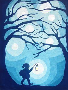 Weihnachten - Elf mit Laterne - ein Designerstück von art4windows bei DaWanda