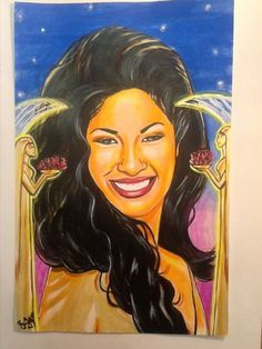 Selena Quintanilla Perez Painting ,One of a Kind Original ,Multicolored Unique #Surrealism