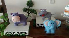 Hipopotamo, Rinoceronte e elefante