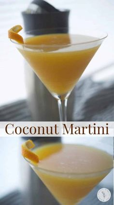 Indulge in this fruity Coconut Martini made with four ingredients. It's a cool and refreshing adult beverage on a hot Summer day.#martini #cocktail #beverages #alcohol Fruity Drinks, Refreshing Cocktails, Yummy Drinks, Martini Recipes, Cocktail Recipes, Drink Recipes, Vegetarian Meal Prep, Vegetarian Recipes Easy, Kid Friendly Dinner