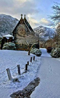 St. Mary and St. Finnan's Catholic Church, Glenfinnan, Scotland (by Nurmanman on Flickr)