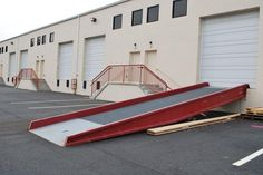 Used Yard Ramps for Sale by American Surplus Inc. Strategic Planning, Car Ramp, Old Things, Yard, Construction, American, Business, Ideas, Building