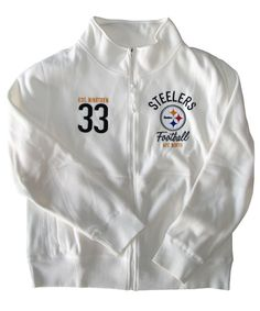 Pittsburgh Steelers Women s Cream Polar Fleece Track Jacket da6782e51