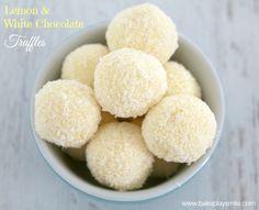 Thermomix Lemon & White Chocolate Truffles | Bake Play Smile