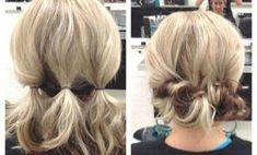 Short hair updos, easy hairstyles for short tresses; updo hacks, tips, tricks tutorials perfect for prom, holiday season; shoulder-length locks.
