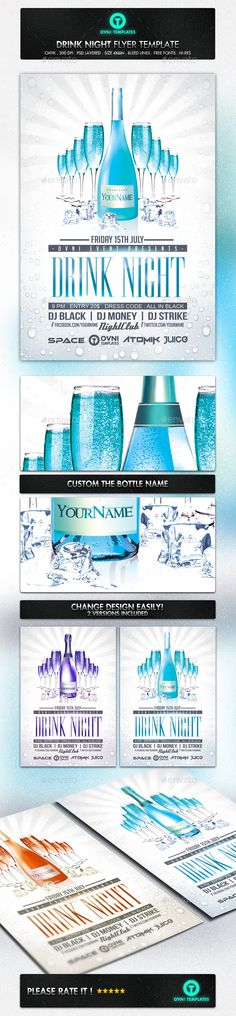 Drink Mix Party Flyer Template Party flyer, Drink mixes and - advertisement flyer template