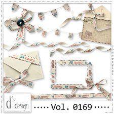 Vol. 0169 - Post Mail Ribbons Mix  by Doudou's Design  #CUdigitals cudigitals.com cu commercial digital scrap #digiscrap scrapbook graphics