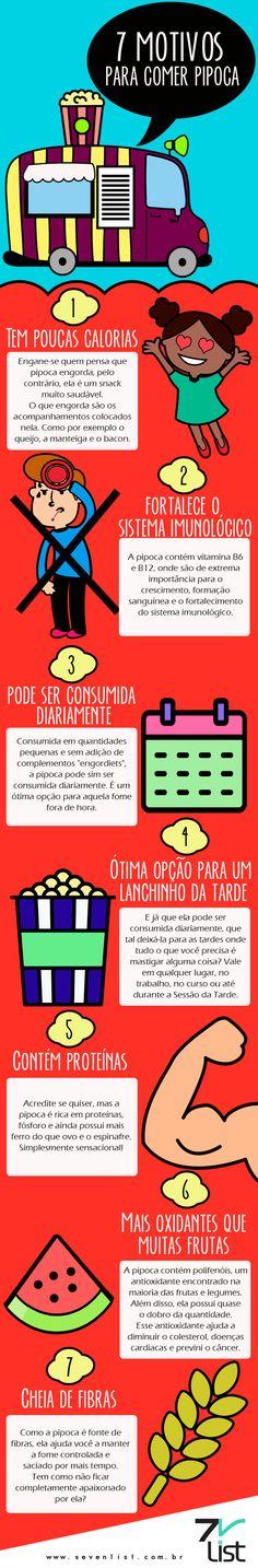 #SevenList #Infográfico #Design #Cinema #Filmes #Pipoca #Dieta #Saúde #Fitness…