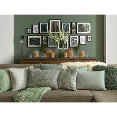 Dutch Decor Sierkussen Desire 40x60 cm artisjok | Blokker Cute Living Room, Living Room Green, Green Rooms, Home Room Design, Living Room Designs, Casa Hygge, Living Room Decor Inspiration, Diy Bedroom Decor, Home Decor
