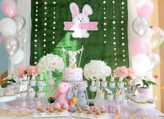 Rabbit themed birthday party | CatchMyParty.com