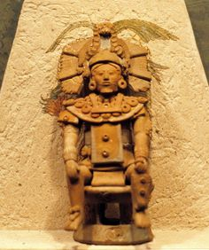 a ceramic figure of an important Maya person from the island of Jaina Campeche,Mexico