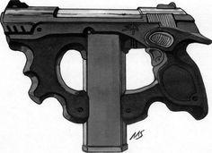 SR Shadowrun Weapon Design by raben-aas on DeviantArt