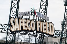 Safeco Field where the Seattle Mariners play - a very cool baseball stadium with a roof that closes when it rains; set in the middle of downtown Seattle.