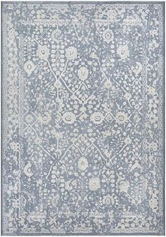 Vintage-inspired floral designs define a versatile rug woven from fade-resistant polypropylene, making it great for high-traffic areas both inside and outside. Style Name:Couristan Lillian Indoor/outdoor Rug. Style Number: Available in stores. Wool Area Rugs, Blue Area Rugs, Transitional Area Rugs, Calming Colors, Neutral Colors, Floral Rug, Indoor Outdoor Rugs, Outdoor Play, Outdoor Living