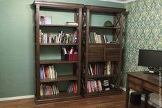 Купить Стеллаж книжный с ящиками (002) - стеллаж, книжный шкаф, мебель из дерева, мебель на заказ