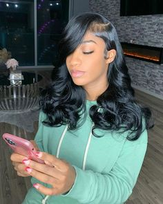 Gamay Hair Top Virgin Human Hair Wigs Glueless Wavy Full Lace Silk Base Wigs with Baby style easy style for girls style for school style long style simple Baddie Hairstyles, Pretty Hairstyles, Braided Hairstyles, Hairstyle Ideas, Easy Hairstyle, Natural Weave Hairstyles, Body Wave Hairstyles, Hair Ideas, Sew In Hairstyles