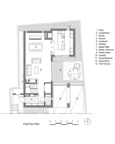 Gallery of House in Hyojadong / Min Soh + Gusang Architectural Group + Kyoungtae Kim - 33 Architecture Courtyard, Brick Architecture, New House Plans, House Floor Plans, Red Brick Exteriors, Kim House, Casa Patio, Unusual Homes, Grand Homes