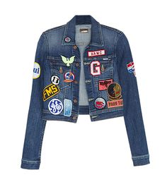 MOTHER  Shorty Patch Jacket ($365, available in store and on RevolveClothing.com on September 30) in Spellbound in Seattle Emulate the 3.1 Phillip Lim runway and add some cool patches to your denim pieces.