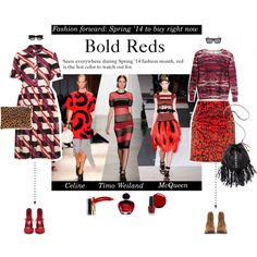 """""""Watch Out for: Bold hued reds"""" by angielou on Polyvore #BoldReds"""