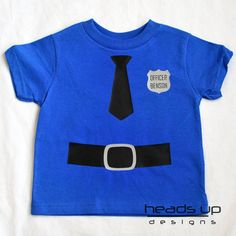 Easy diy kids cop costume pinterest sewing diy costumes and personalized police officer shirt baby baby policeman costume policeman tshirt baby boy occupation t shirt career onesie solutioingenieria Image collections