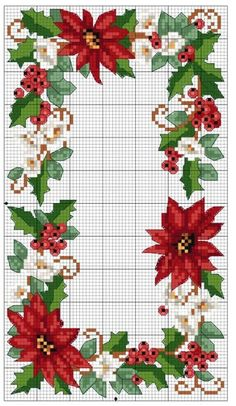 ♥ Mi Dot Gráficos Cruz ♥: Flor de Navidad en los gráficos de punto de cruz
