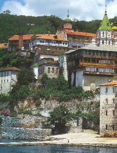 Saint Pandeleimon Russian Orthodox Monastery on Mount Athos, Greece