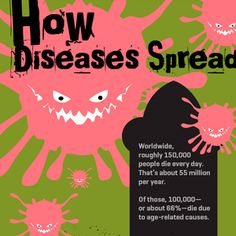 The diseases you get often depend on how wealthy of a country you live in.  Infectious diseases including lower respiratory infections, HIV/AIDs, diarrhoeal diseases, malaria, and tuberculosis.