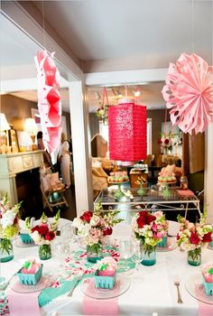 Strawberry shortcake themed bridal shower - love it! This is totally my style.