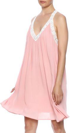 fashion on earth Sleeveless Peach Dress