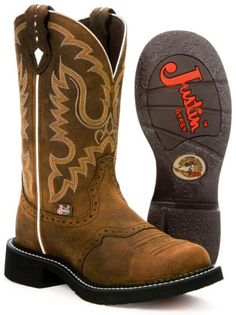 Justin leather Gypsy boots ~ Aged Bark