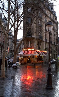 Rainy day in Paris_ France