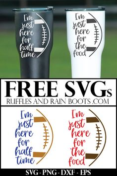 Click to get the free sarcastic football SVGs to craft and design. These free cut files work with Cricut, Silhouette, and additional cutting machines. #freesvg #freesvgs #footballsvgs #superbowl #footballfan via @momtoelise