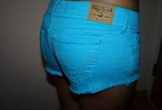 Blue neon pants
