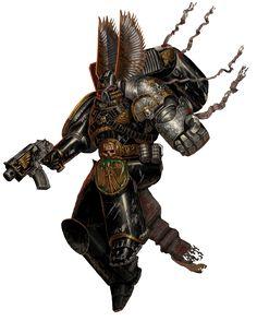 Assault Marine of the Dark Angels Chapter, seconded to the Deathwatch; Warhammer 40k Rpg, Warhammer Models, Warhammer 40k Miniatures, Warhammer Fantasy, Dark Angels 40k, Aliens, Grey Knights, Deathwatch, Space Marine