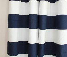 Pair 25 OR wide Premier Print Cabana Horizontal Stripe navy blue rod pocket 24 48 63 72 84 96 108 cafe curtains panels valance Boys Room Curtains, Wide Curtains, Grommet Curtains, Panel Curtains, Curtain Panels, Valances, Curtain Rings With Clips, Curtain Clips, Grey Striped Curtains