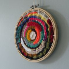 One of my circular woven wall hangings! #woven #wovenwallhanging #wallhanging #colours #wool #ontheloom #loom #handmade #handwoven #handcraft #crafts #craft #etsy #etsyshop #etsyseller #gift #gifts #home #interior #interiordesign #instahome