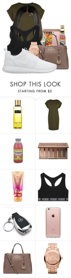 """""""They say blood is thicker than water but i remember plenty of times when was water was there and blood wasn't"""" by beautyuniqueblossoms ❤ liked on Polyvore featuring FRUIT, Urban Decay, Victoria's Secret, Mercedes-Benz, Incase, Michael Kors and NIKE"""