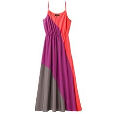 Mossimo Women's Color block Maxi Dress - Pink