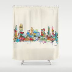 San Diego shower curtain at Society6