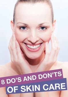 Read all about the dos and don'ts about acne and how to get rid of blackheads.